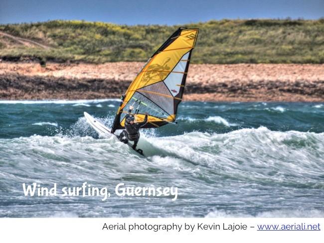 Wind surding GUernsey islandmums kevin lajoie